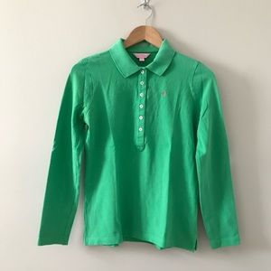 Lilly Pulitzer Long sleeve Polo